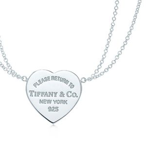 Authentic Tiffany & Co Double Chain Heart Necklace
